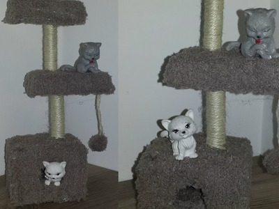 How to make a Doll Cat Playhouse