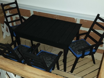 How to make a Doll Patio Set