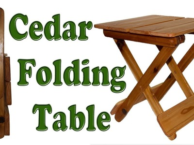 How To Make A Folding Table DIY Woodworking Project