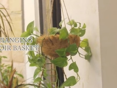 How to Make a Hanging Coir Basket - DIY Recycled Craft