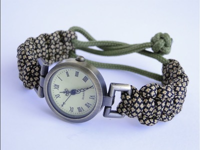 How to Make a Mad Max Style (without buckle) Paracord Watch Band-Cobra Weave