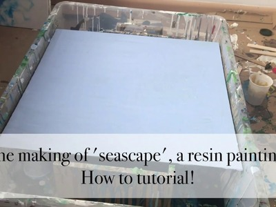 How to make a seascape epoxy resin painting. Tutorial.