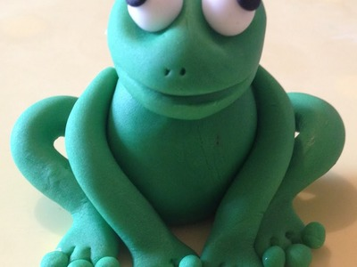 How to make a sugar frog from fondant
