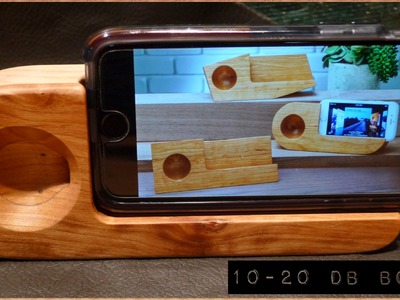 How to Make a Wooden Stand (Passive Sound Amplifier) for your iPhone (English Version)