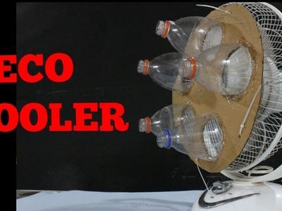 How to make AIR COOLER USING BOTTLE | DIY (ECO-COOLER)