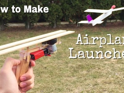 How to Make an Airplane Launcher at Home - Simple Cardboard Airplane