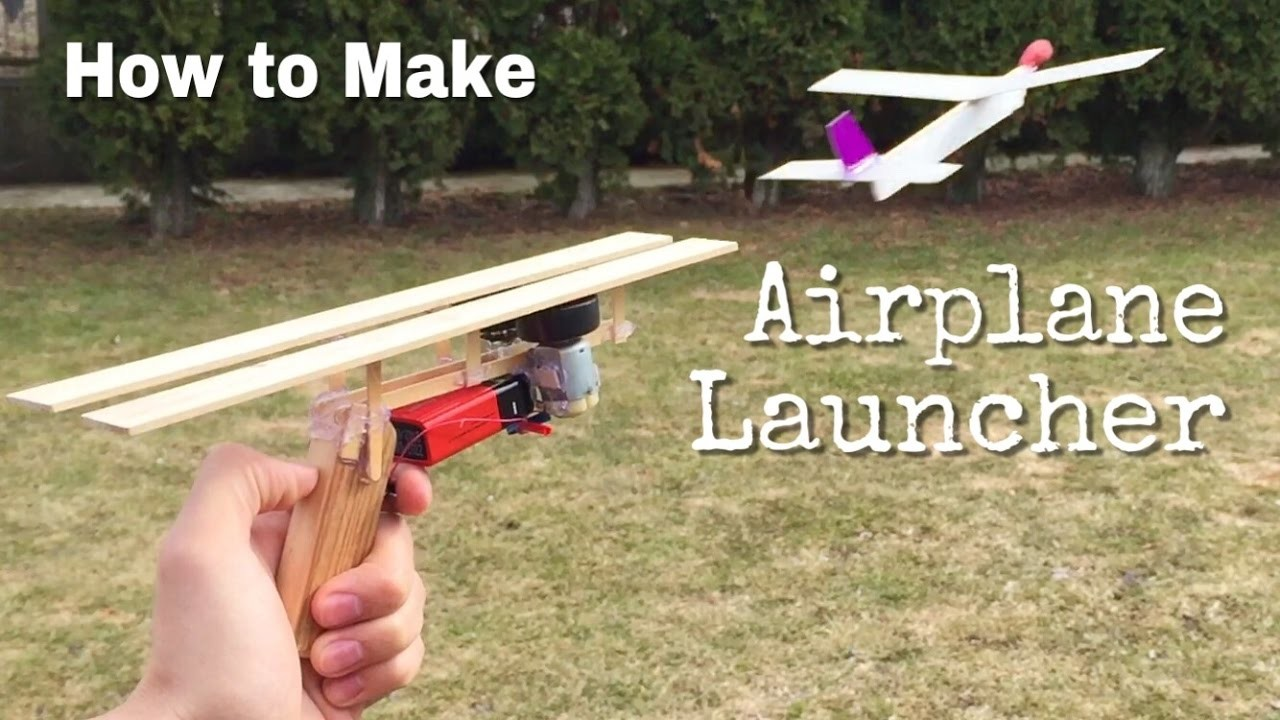 How to make an airplane launcher at home simple for How to make simple crafts at home