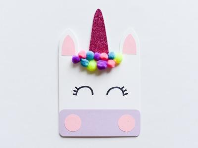 How to make : Cute Unicorn Greeting Card | Kartka Okolicznościowa Jednorożec - Mishellka #227 DIY
