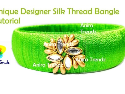 How to make Designer Bridal Bangle at home | Silk Thread Bangle Tutorial