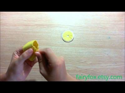 How to make felt lemon