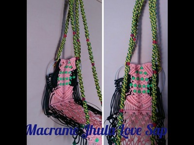 How to make love ring jhula macrame at home verysimple design