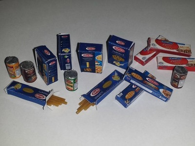 How to make Miniature Pasta and Sauce Cans