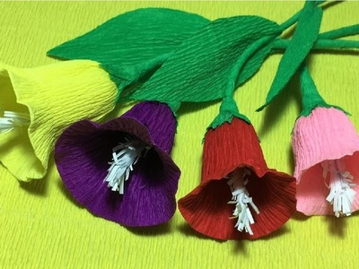 How to make morning glory paper flower| diy morning glory crepe paper flower making tutorials
