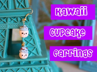 How to Make Polymer Clay Kawaii Cupcake Earrings