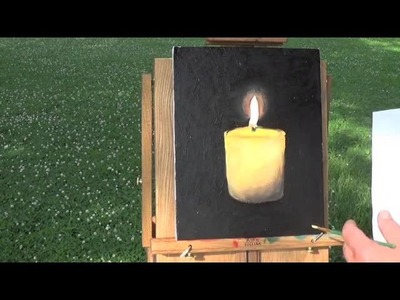 How To Paint A Candle