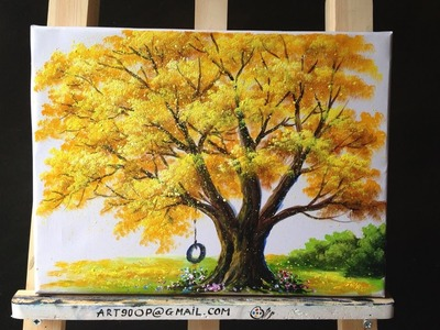 How to Paint a Tree with Acrylic Lesson11