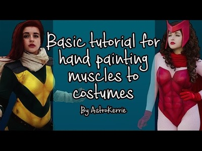 How to paint basic muscles onto costumes