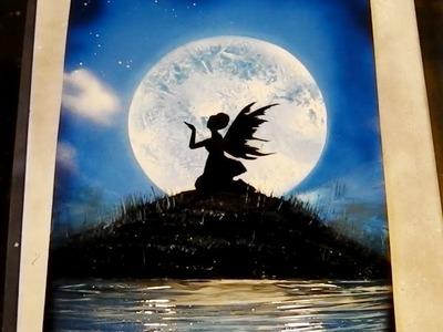 How to Spray Paint Art - Moonlight Fairy Tutorial