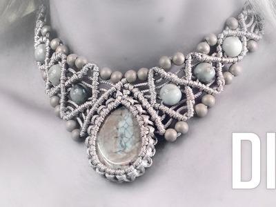 How to Wrap a Stone and Make Macramé Necklace   DIY