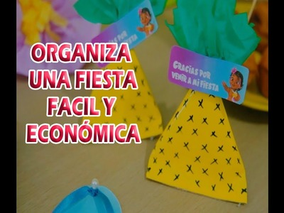 Ideas fáciles y económicas para fiesta de Moana.Easy ideas for Moana party