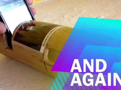 IPhone speaker made from bamboo