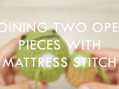 Joining open pieces with mattress stitch (right-handed) | Kristi Tullus