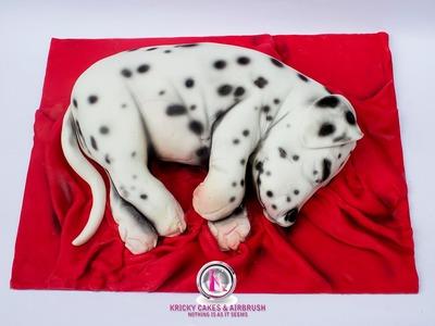 Kricky Cakes Decoration: Realistic Dalmata dog cake tutorial 720p