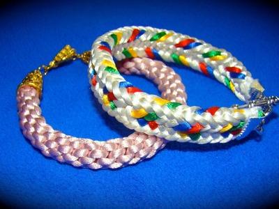 Kumimari 18: 2 ways to finish your kumihimo bracelets. 2 formas de terminar tus pulseras de kumihimo