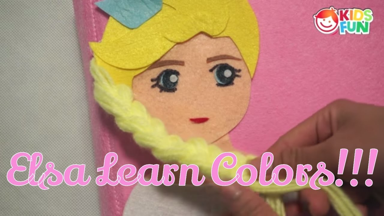 Learn Colors with Frozen Elsa and QUIET BOOK |  Learn Colors, Teach Colours | Learning For Kids
