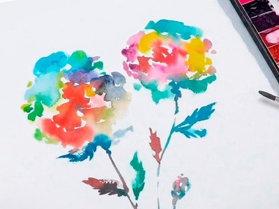 [LVL2] Abtract floral watercolor painting