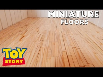 Making the Floor & Wall Hangings - Toy Story Miniature Box(1:12)