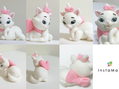 Marie (from Aristocat) made of clay and how to make a ribbon bow with clay