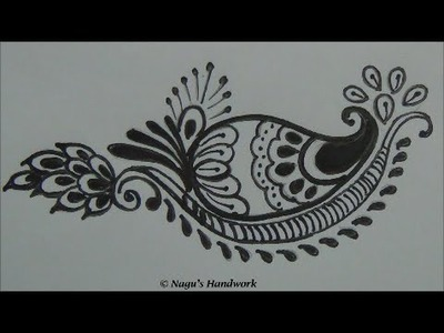 Mehndi Design 2 -For Beginners-Basic Designs by Nagu's Handwork