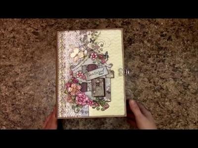 MINI ALBUM TUTORIAL PART 3 WILDWOOD COTTAGE - DESIGNS BY SHELLIE