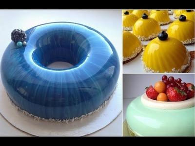 Mirror Glaze Cake - Cake Decorating - DIY GALAXY MIRROR CAKE - Compilation
