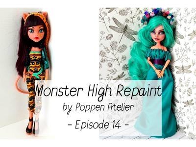 Monster High Repaint, Doll Faceup, Custom Doll - Episode 14 - Cleolei