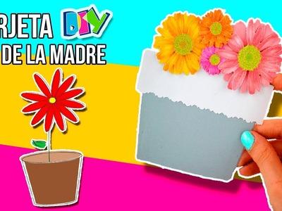 Mother's DAY FLOWER pot Card * Tarjeta MACETERO para el día de la MADRE ✅  Top Tips & Tricks