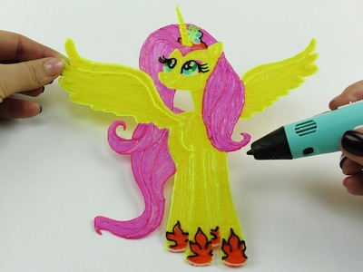 My Little Pony | How to Draw Flutershy Alicorn with 3D Pen | Video for Kids