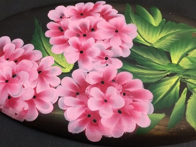 One Stroke Painting Tutorial- Decorative Flowers on Plaster of Paris