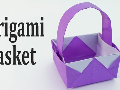 Origami Easter Basket Tutorial (Traditional)