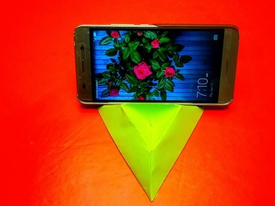 Origami: Phone Stand#02-How To Make An Origami Phone Stand.Holder- Phone Stand Instructions-EASY