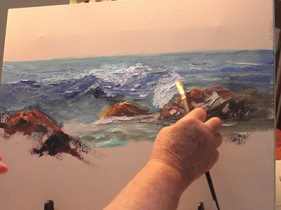 Paint: Ocean Wave Part 1-with Marge Kinney