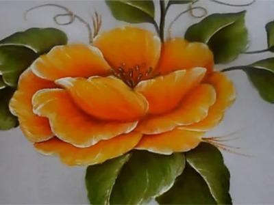 Pintura textil paso a paso Flor Amarilla, Textile painting, How to paint a flower