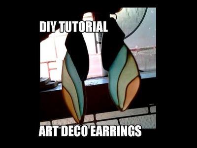 Polymer clay tutorial - DIY Art Deco earrings