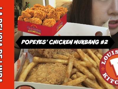 Popeyes' Mukbang #2 | Asian Girl Tries Popeyes Bonafide Fried Chicken and Cajun Fries