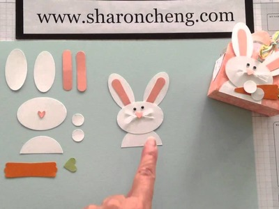 Punch Art Easter Bunny with Sharing Creativity and Company