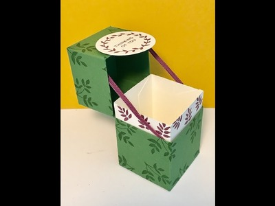 Ribbon Supported Lidded Box - Video Tutorial Using Lots of Love from Stampin' Up