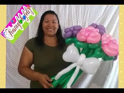 Rosas para  MAMÁ hechas con globos