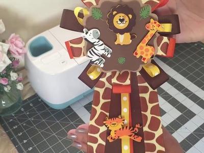 Safari Baby Shower Corsage