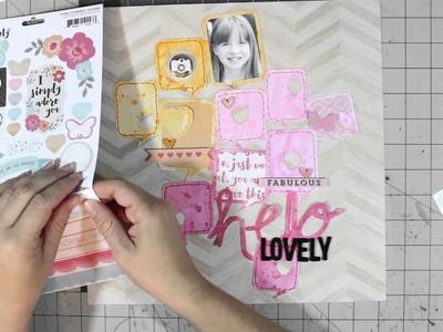 Scrapbook Process Video: The Cut Shoppe - Hello Lovely